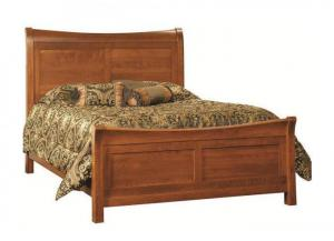 Image for Princeton Solid Cherry King Sleigh Bed by Premier Amish