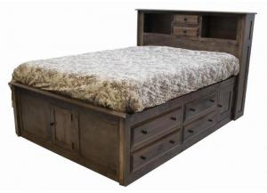Image for Simplicity King Storage Bed w/ Bookcase Headboard by Daniels Amish