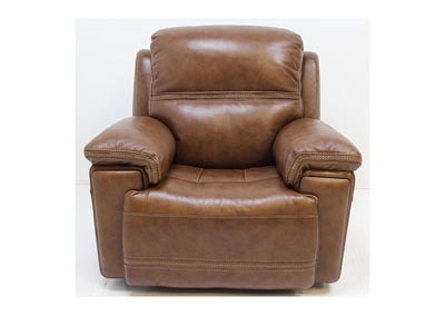 Image for Fenwick Leather Power Glider Recliner by Flexsteel