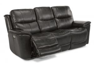 Image for Cade Leather Triple Power Reclining Sofa by Flexsteel