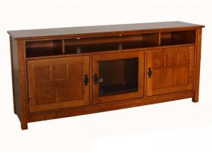 "Image for 2433 Oxford Mission Solid White Oak 70"" Console by Y&T Woodcraft"