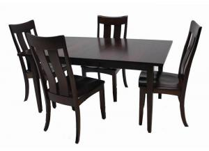 Image for Arlington Solid Maple 5-Piece Dining Set by Trailway Amish