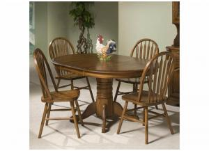 Image for Classic Solid Oak 5-Piece Dining Set