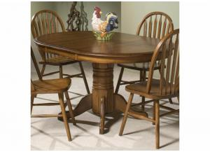 Image for Classic Oak Single Pedestal Round Dining Table