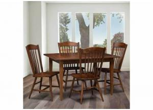 Image for Freeport 5-Piece Solid Cherry Dining Set by Trailway Amish