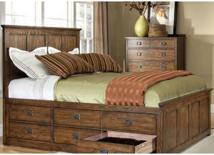 Image for Oak Park Mission Queen Storage Bed by Intercon