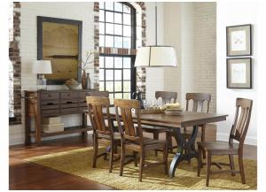 Image for The District Solid Birch 7-Piece Dining Set by Intercon