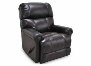 Image for Captain Leather Swivel Rocker Recliner by Franklin