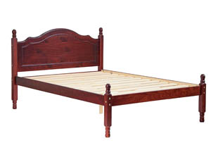Image for Reston Panel Bed, Full Mahogany