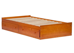 Image for Kansas Twin Mate's Bed, Honey Pine