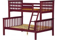 Image for Mission Twin/Full Bunk Bed Mahogany