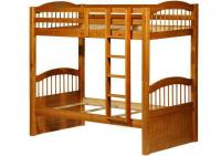Image for Triplet Twin/Twin Bunk Bed Honey Pine
