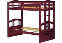 Image for Triplet Twin/Twin Bunk Bed Mahogany