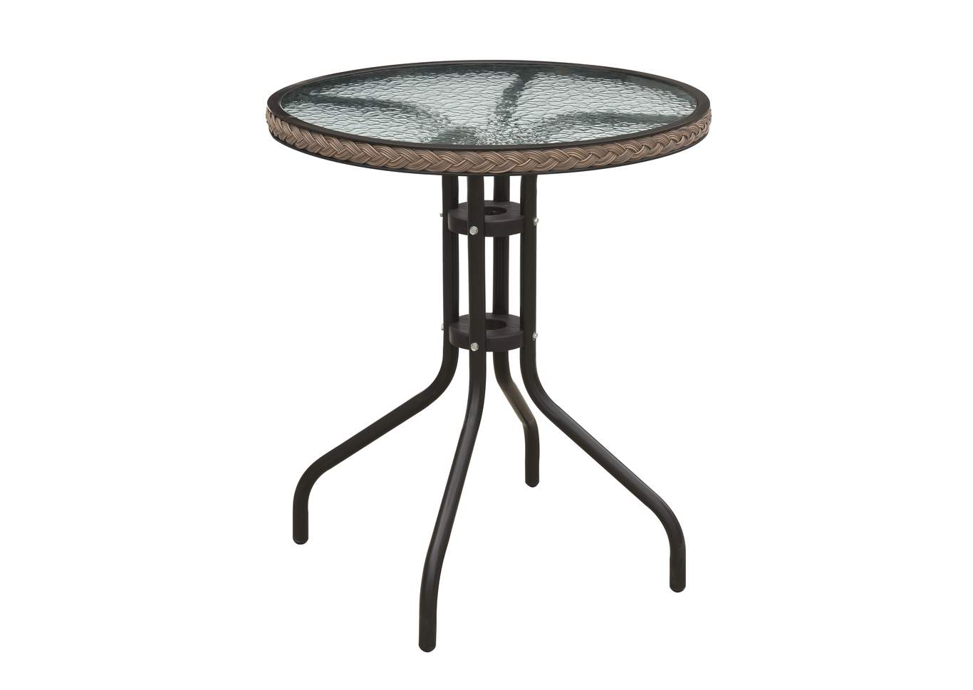 Black/Brown Outdoor Table,Poundex