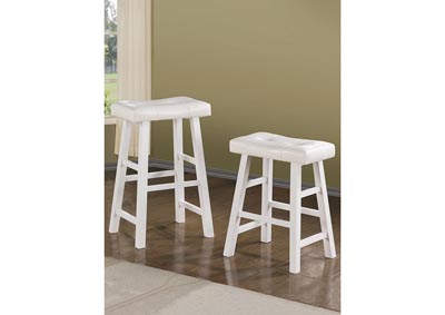 Image for White Counter Stool (Set of 2)