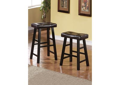 Image for Black Bar Stool (Set of 2)