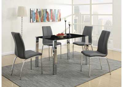 Image for Black/Chrome Dining Table