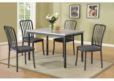 Image for Grey 5 Piece Dining Set