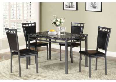 Image for Black/Grey 5 Piece Dining Set