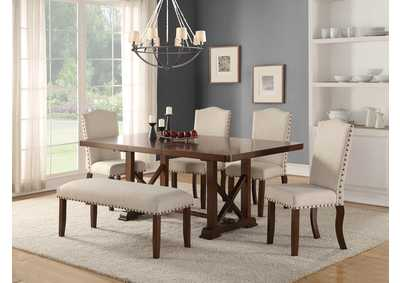 Image for White Dining Bench
