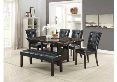 Image for Black Dining Bench