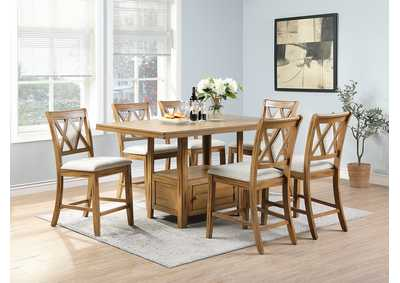 Image for Brown Backed Dining Chair