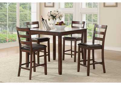 Image for Dark Cherry 5 Piece Dining Set