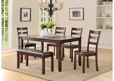 Image for Dark Cherry 6 Piece Dining Set