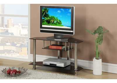 Image for Black/Chrome TV Stand