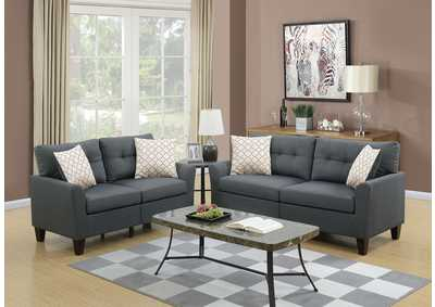 Image for Charcoal 2 Piece Sofa Set