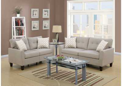 Image for Beige 2 Piece Sofa Set