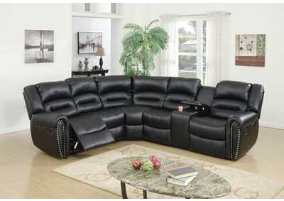 Image for Black Reclining Sectional