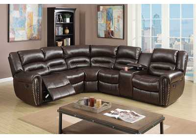 Image for Brown Reclining Sectional