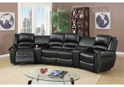 Image for Black Home Theater Sectional
