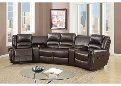 Image for Brown Home Theater Sectional