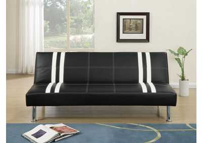 Image for Black/White Adjustable Sofa