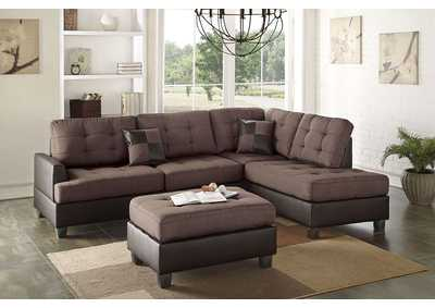 Image for Chocolate 3 Piece Sectional
