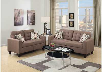 Image for Light Coffee 2 Piece Sofa Set