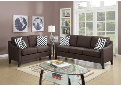 Image for Chocolate 2 Piece Sofa Set