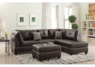 Image for Espresso 3 Piece Sectional