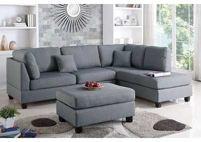 Image for Grey 3 Piece Sectional