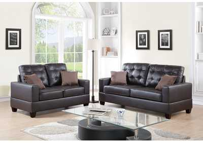Image for Espresso 2 Piece Sofa Set