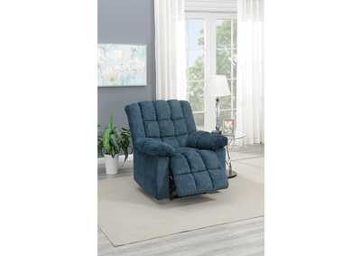 Image for Taiyus Dark Blue Chenille Power Recliner