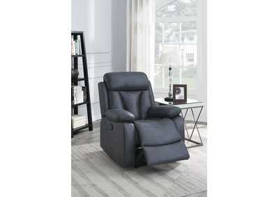 Jovfur Navy Blue Power Recliner