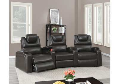 Image for Jovfur Espresso Single Sector Arm Power Recliner