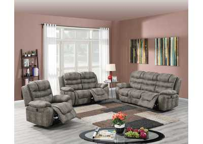 Image for Hainin Slate Grey Powe Recliner