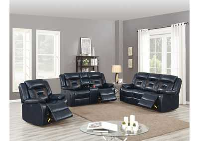 Image for Zoyart Dark Blue Power Recliner