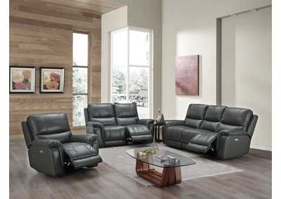 Image for Asiama Slate Grey Power Recliner