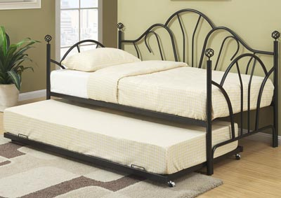 Image for Black Day Bed w/Trundle