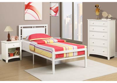 Image for White Twin Bed